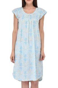 Ezi Women's Cotton-rich Short Sleeve Nightgown
