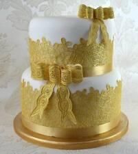 VINTAGE BOWS 3D Cake Lace Mat by Claire Bowman