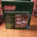 Vintage Coleman Aluminum Dishes Scout's Essentials Collapsible Mess Kit For Kids