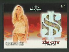 2020 Benchwarmer Sin City Swatch Silver Foil Cassandra Lynn 6/7