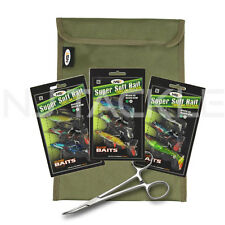 NEW NGT LURE FISHING KIT 3 PACKETS OF KLONE SOFT LURES + STORAGE BAG & FORCEPS