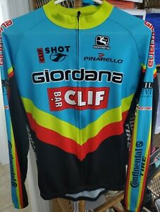 Giordana Clif Bar Team Cycling Long Sleeve Jersey Sz Large