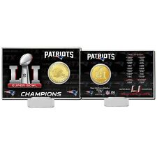 "LIMITED New England Patriots Highland Mint 4"" x 6"" Super Bowl LI Champions Coin"