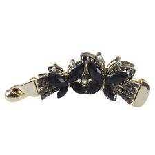 C di donne Banana Accessori per capelli farfalla Resin nero 108x31mm E3K7