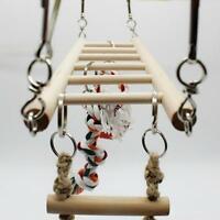 Parrot Climbing Ladder Hanging Net Bridge Macaw Toys Cage Bird Chew Decoration