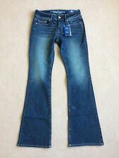 American Eagle Womens Denim X4 Kick Boot Dark Jeans Size 4 Regular / Reg - NWT
