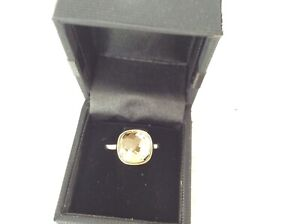 Swarovski golden shadow ring gold tone square stone-size 55 - New