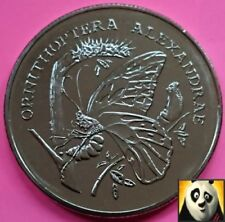 More details for 1986 rare queen alexandra's birdwing preserve wwf for nature coin medal
