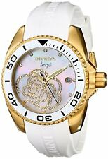 Invicta 0488 Women's Angel Crystal White Rubber Watch