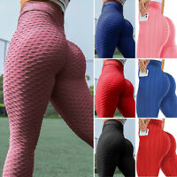Womens Yoga Pants High Waist GYM Leggings Fitness Workout Sport Jogging Trousers