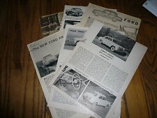 English Ford Anglia Perfect Zodiac Car Ads Articles Road Test Six Items Vintage