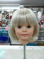 "NEW STYLE ! Cathie Lee! wig for PATTI PATTY PLAYPAL ""DORIS"" PALE BLOND SZ 19 1/2"