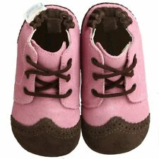 New Baby Girl Robeez Soft Soles Classic Boot Slip On Rose Suede 3-6 M 1.5-2 17