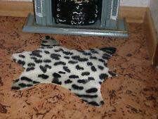 """helles  """"LEOPARDENFELL"""",Teppich für Kaminzimmer,Wohnzimmer,Schlafzimmer,Miniatur"""