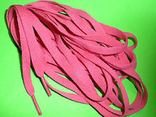 SHOELACES 240CM  RASPBERRY  FLAT LACES ** IN AUSTRALIA ** SHOE LACES FOR BOOTS