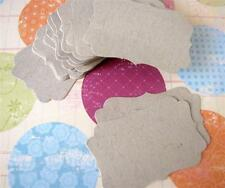 Kraft Cardstock Scalloped Frame Label Gift Tags, Scrapbooking, party