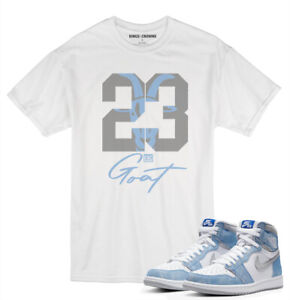 Tee shirt to match Air Jordan 1 Retro Hyper Royal Grey Sneakers knc 23 Goat