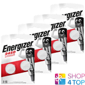 8 ENERGIZER CR2450 LITHIUM BATTERIES 3V COIN CELL DL2430 BR2430 EXP 2025 NEW