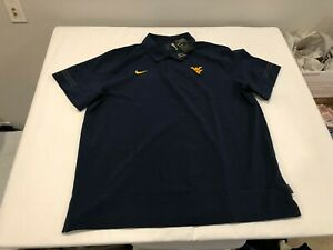 NWT $80.00 Nike Mens West Virginia Coach Flex On Field Polo Navy Size XXL