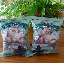 2 Bags TRADER JOES ORIGINAL GINGER CHEWS The Ginger People Gluten Free 5oz Bags