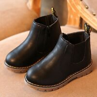 KIDS BOYS GIRLS GRIP SOLE WARM WINTER LACE UP ANKLE ZIP TRAINERS BOOTS SIZE UK