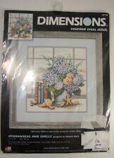 Dimensions Counted Cross Stitch Kit Hydrangeas and Shells Barbara Mock 35166 New