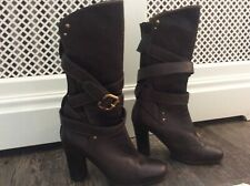 Worn once Chloe boots - brown leather - Prince - 37