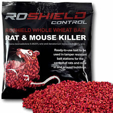 Roshield 1 x 150g Bromadiolone Whole Wheat Grain Poison Sachet Rat Killer Bait