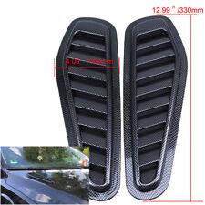 Carbon Fiber Style Car Decorative Hood Turbo Intake Scoop Grille Air Flow Vent