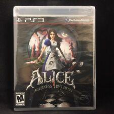 Alice: Madness Returns  (Sony Playstation 3, 2011) BRAND NEW / Region Free