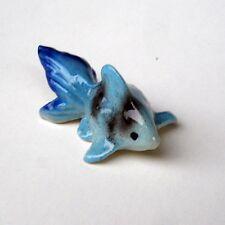 Sky blue Tiny Ceramic Cute Goldfish Home Decor Garden Decor MINIATURE DOLLHOUSE