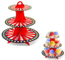 Kids Carnival Birthday Party Cupcake Stand Circus Dessert Table Display Plates