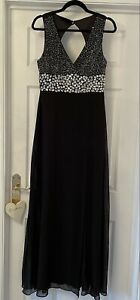 Gorgeous black maxi dress with beading / sparkle. LIPSY VIP. Size 12. Immaculate