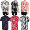 Brave Soul Mens Designer Stylish Tropical Hawaiian Floral Print Casual Shirt