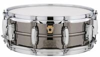 "Ludwig LB416K Black Beauty Hammered Brass Snare Drum w/ Imperial Lugs, 5"" x 14"""