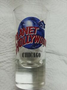 "New Never Used Planet Hollywood Chicago Shot Glass 3 1/2"" Tall Souvenir"