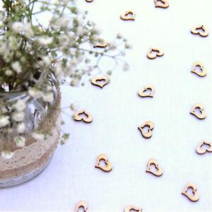 Wedding table decorations   Rustic Small Wooden Hearts   Confetti Love Decor