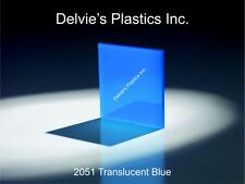 "5 Sheets 1/8"" 2051 Translucent Blue Cell Cast Acrylic Sheet  12"" x 24"