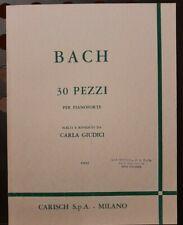 BACH - 30 Pezzi per pianoforte - ed Carisch