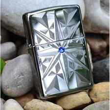 Zippo Lighter -  Star Bright -  Engraved - Blue Swarovski Crystal - AE184866