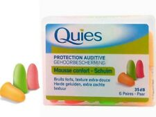 Quies Rubber Foam Ear Protection Plugs - 35 db - 6 Pairs Pack