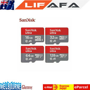 SanDisk Ultra 16GB 32GB 64GB 128GB micro SD HC Flash Memory Card 80MB Class10 LF