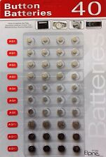 40 X ASSORTED BUTTON CELL  BATTERIES WATCHES, GAMES ETC