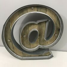 "Rustic Metal Letter @ Sign Light Up 12"" x 12"" New"
