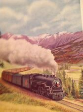 Ephemera 1950 Book Plate Continental Limited Canadian National Railways g1l