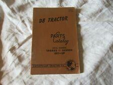 1947 Caterpillar D8 tractor parts catalog book manual