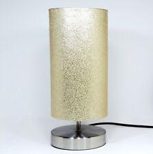 Brillo del oro Lámpara Luz Pantalla Mesa Mesita De Noche Accesorios Dormitorio Niñas
