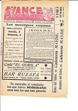 ALAVES V VALENCIA 1 APRIL 1956 QUINELISTA VALENCIANO POST MATCH ISSUE