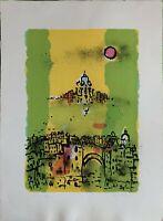 FRANCO ROGNONI Venezia  litografia 70x50 firmata e numerata originale