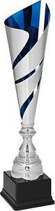 Top Pokal Design Award! 3er Pokalserie Montepelier, silber-blau, 40,5 - 53,5  cm